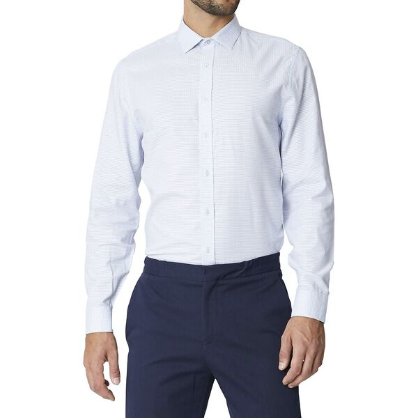 LS FORMAL CAMDEN LINEA DOBBY SHIRT SKY
