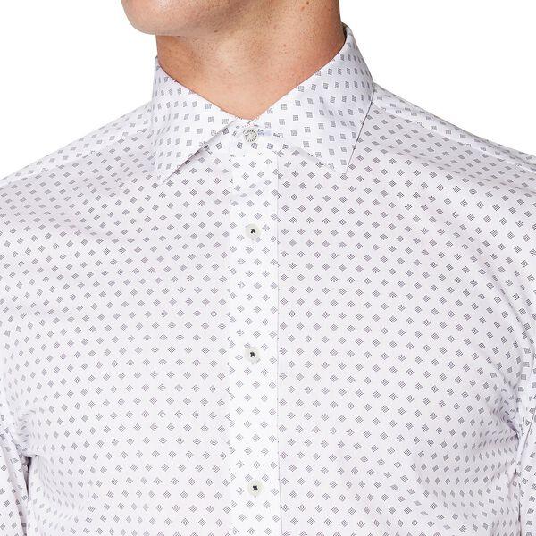 Formal Micro Print Kings Shirt, STAPLES NAVY, hi-res