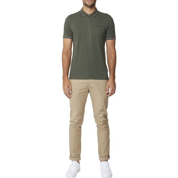 Signature Romford Polo Olive Green, OLIVE GREEN, hi-res