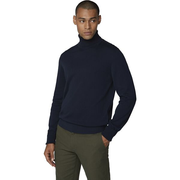 Cotton Roll Neck Dark Navy