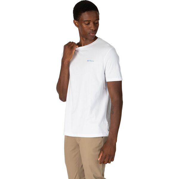 Chest Embroidery T-Shirt, WHITE, hi-res