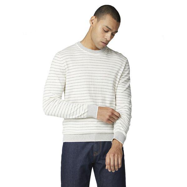 Fine Stripe Knit Off White, OFF WHITE, hi-res