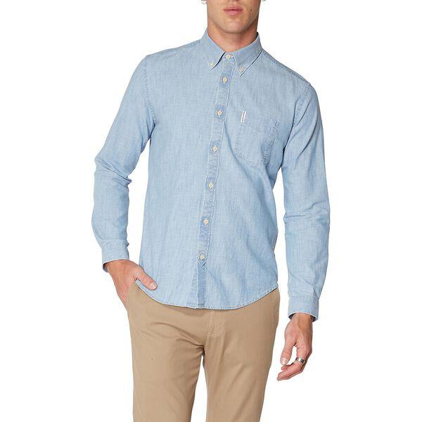 Chambray Shirt, DUSKY BLUE, hi-res