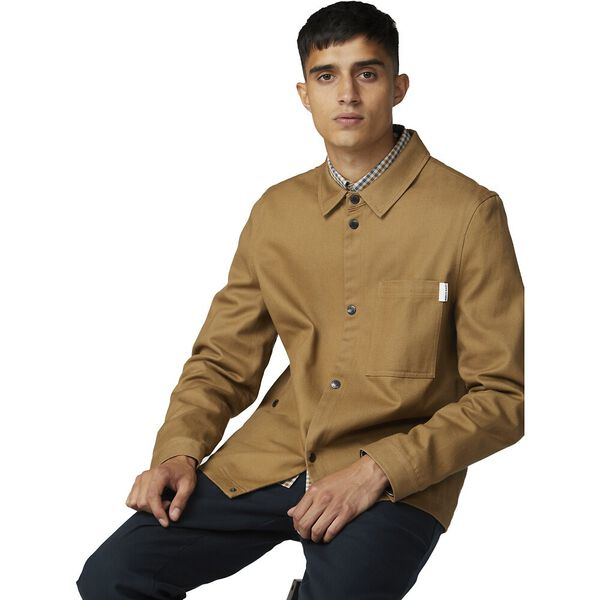 4Sb Twill Overshirt Tan, TAN, hi-res