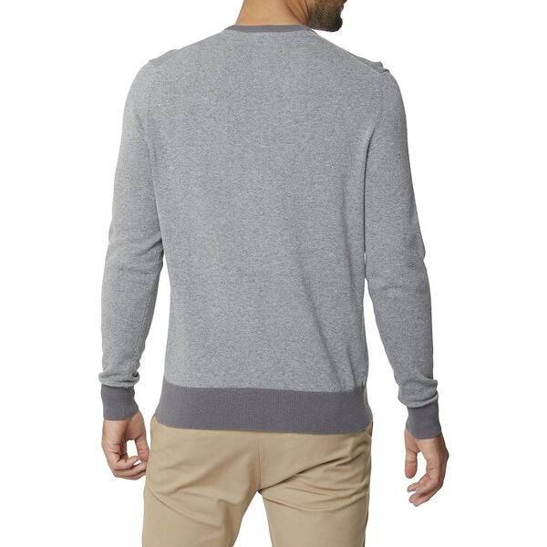 Crew Neck With Contrast Cuff Charcoal, CHAROAL, hi-res