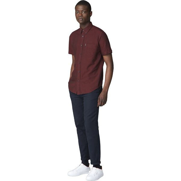 Ss Oxford Shirt Brown, BROWN, hi-res