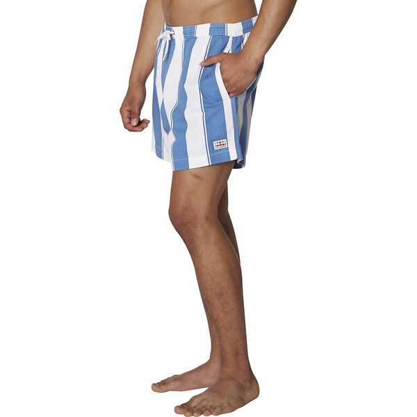 Graphic Stripe Short, DUSKY BLUE, hi-res