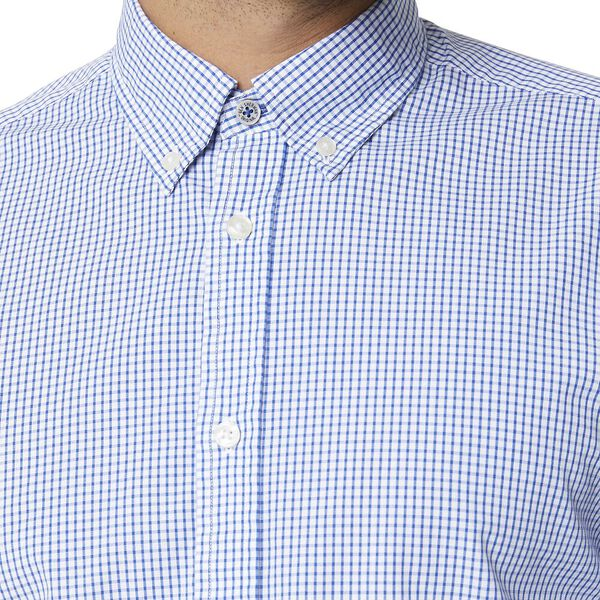 GRID CHECK MOD LS SHIRT BRIGHT BLUE, BRIGHT BLUE, hi-res