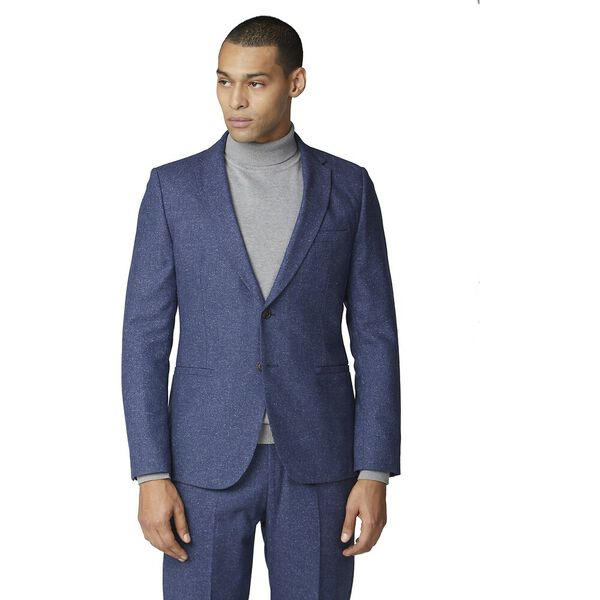 Mid Blue Speckle Jacket Blue