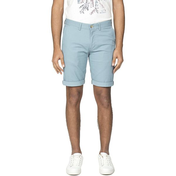 SLIM STRETCH CHINO SHORT, TEAL, hi-res