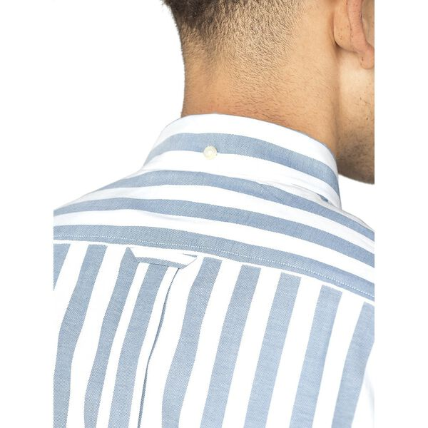 OXFORD IVY STRIPE SHIRT, JAZZY BLUE, hi-res