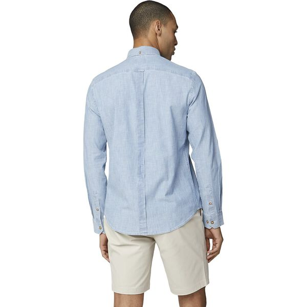 CHAMBRAY SHIRT, DUSKY BLUE, hi-res