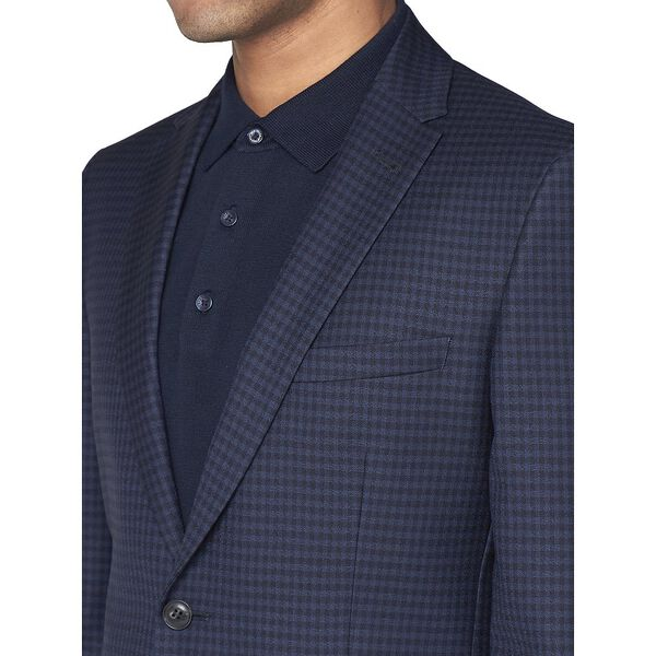 British Deep Gingham Jacket, ROYAL BLUE, hi-res