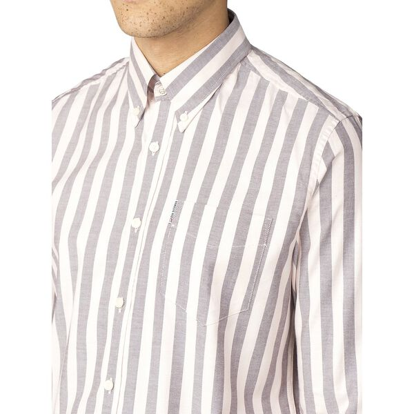 OXFORD IVY STRIPE SHIRT, LIGHT PINK, hi-res