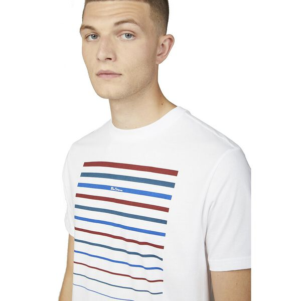CHEST EMBROIDERY TEE, WHITE, hi-res