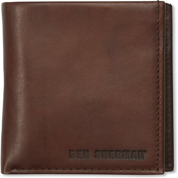 LEATHER RBIFOLD CC WALLET BROWN