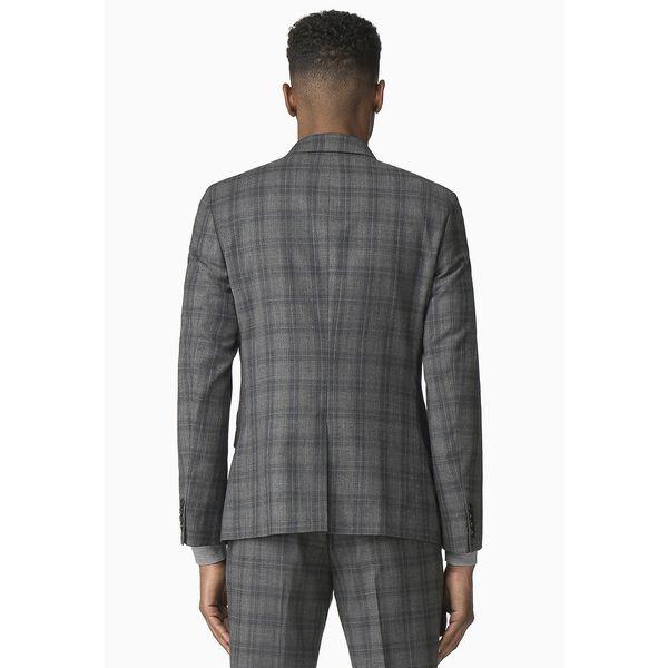 Cool Grey/Blue Check Jacket, GREY, hi-res