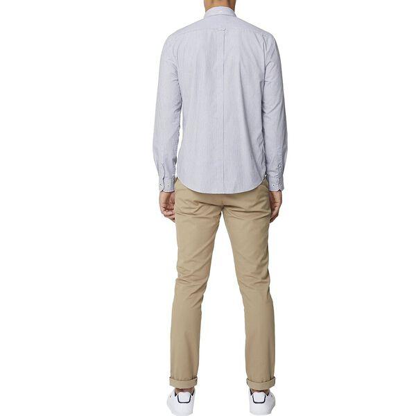 Fine Stripe Mod Ls Shirt Black, BLACK, hi-res