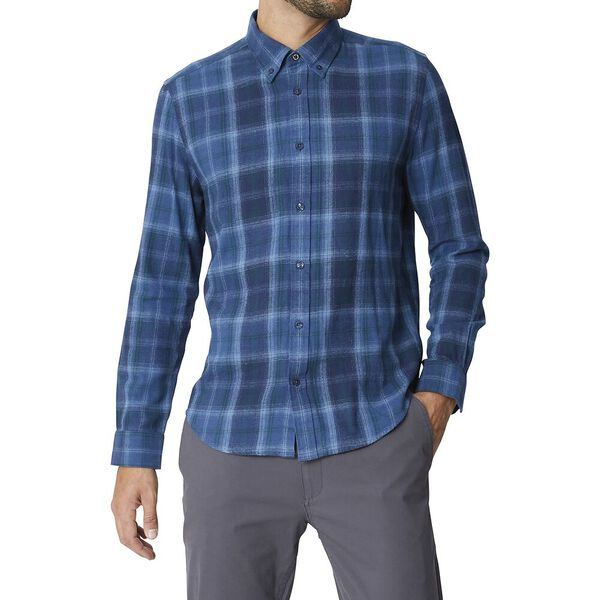 LS BUFFALO CHECK SHIRT DARK NAVY