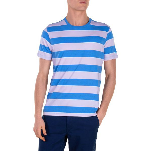 Bold Stripe Tee, CHALK PINK, hi-res