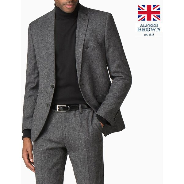 British Charcoal Donegal Jacket, CHARCOAL, hi-res