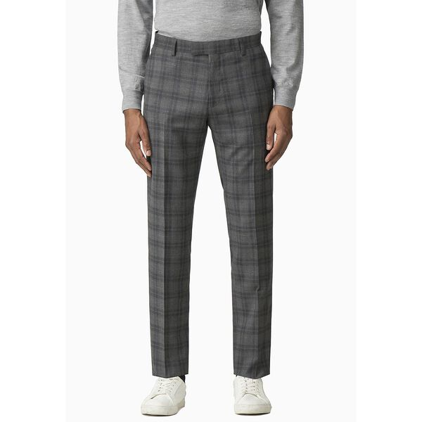 COOL GREY/BLUE CHECK TROUSER