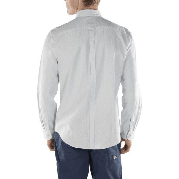Linen Blend Houndstooth Shirt, SKY BLUE, hi-res