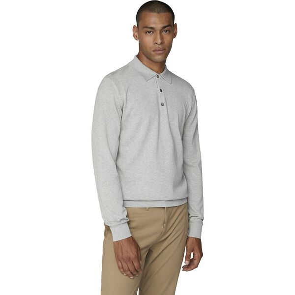 L/S Cotton Polo Grey