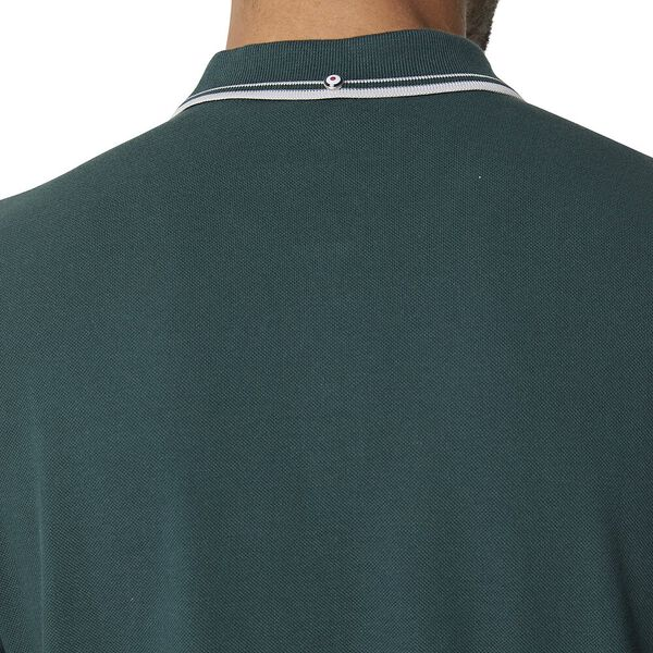 Basic Script Polo With Tipping Teal, TEAL, hi-res
