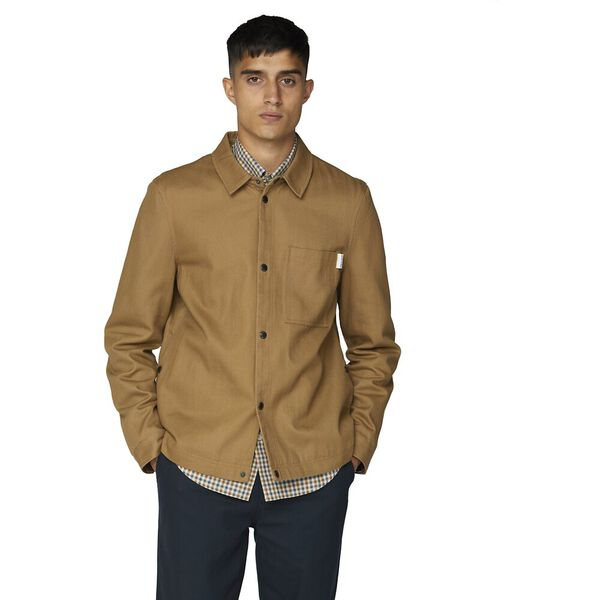 4Sb Twill Overshirt Tan