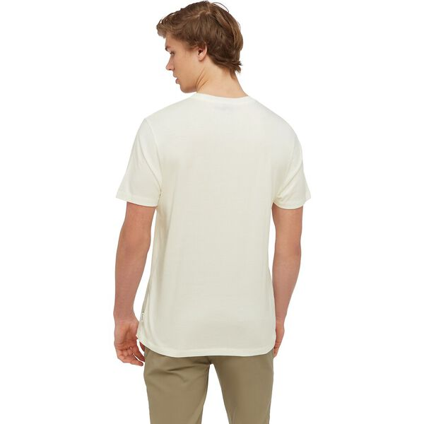 SIGNATURE CHEST EMBROIDERY TEE, IVORY, hi-res
