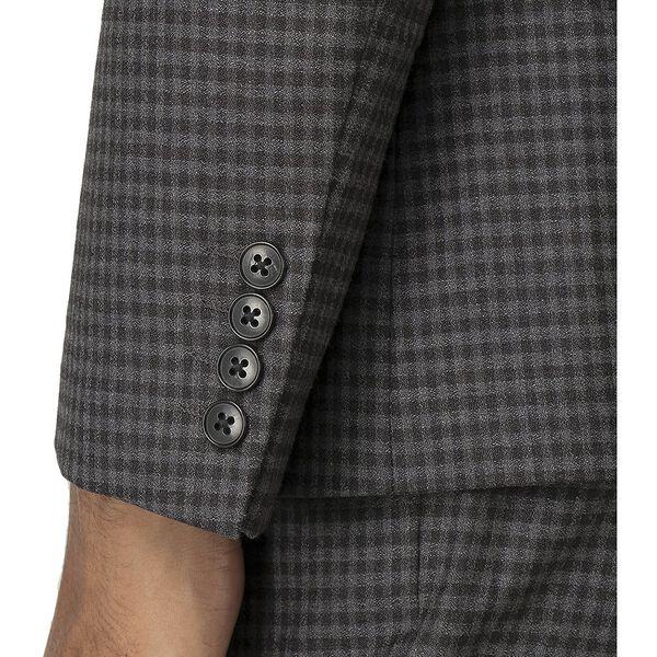 British Crepe Weave Gingham Jacket, CHARCOAL, hi-res