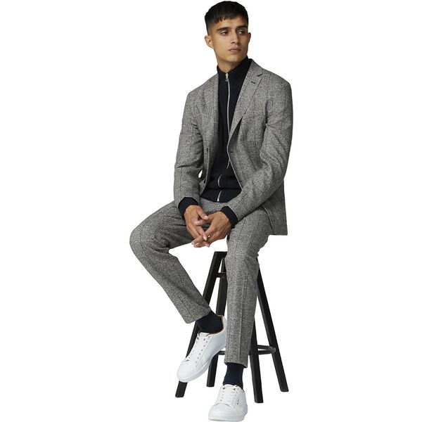 SALT AND PEPPER BLAZER, GREY, hi-res