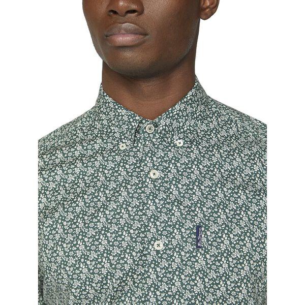 Floral Print Shirt, TREKKING GREEN, hi-res