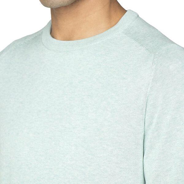 Cotton Crew Neck Knit, SEA, hi-res