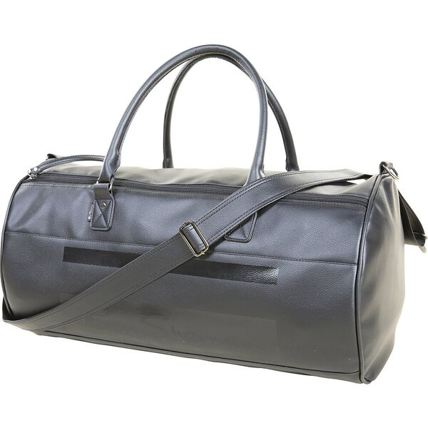 Stripe Mod Pu Holdall Bag, BLACK, hi-res