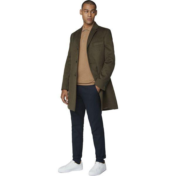 Tailored Coat Dark Green, DARK GREEN, hi-res