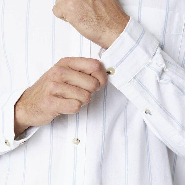 TWIN STRIPE OXFORD SHIRT, WHITE, hi-res