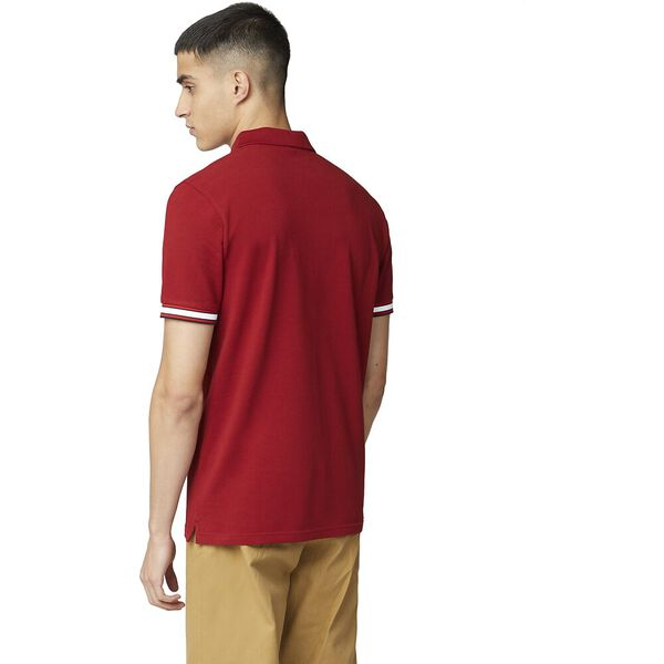 Mod Stripe Detail Polo, RED, hi-res