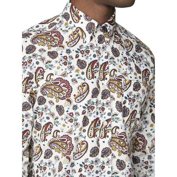 Multi Col Paisley Shirt, ECRU, hi-res