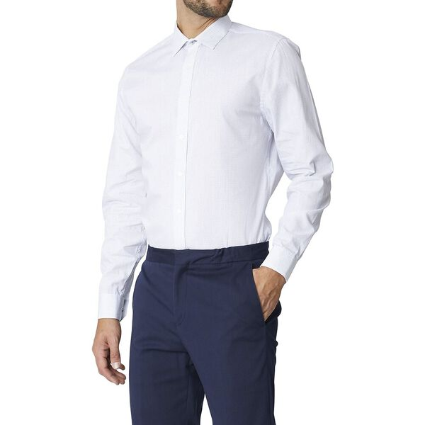 Ls Formal Kings Square Print Shirt White, WHITE, hi-res