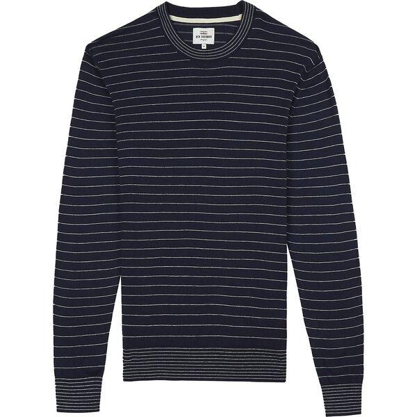 Fine Stripe Knit Dark Navy, DARK NAVY, hi-res