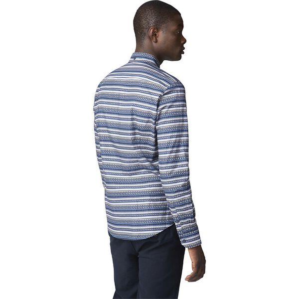 Ls Fairisle Inspired Shirt Dark Blue, DARK BLUE, hi-res