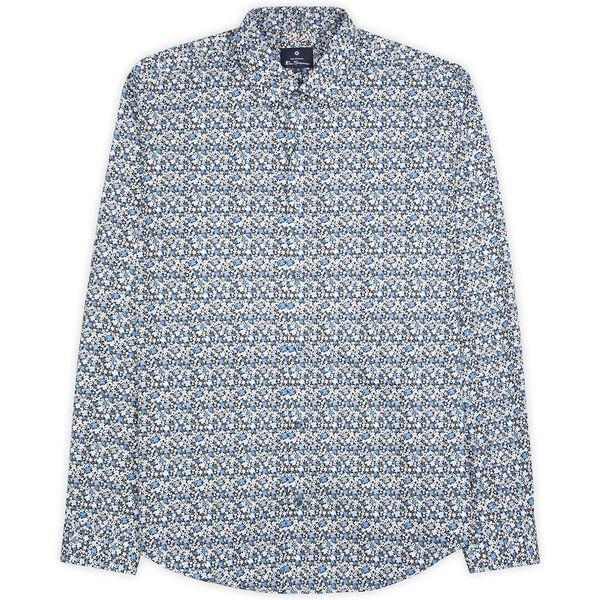 Multi Col Floral Shirt, MIDNIGHT, hi-res