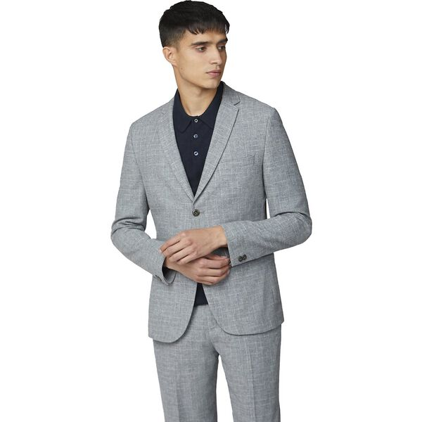 Light Grey Broken Check Jacket Light Gre, LIGHT GREY, hi-res