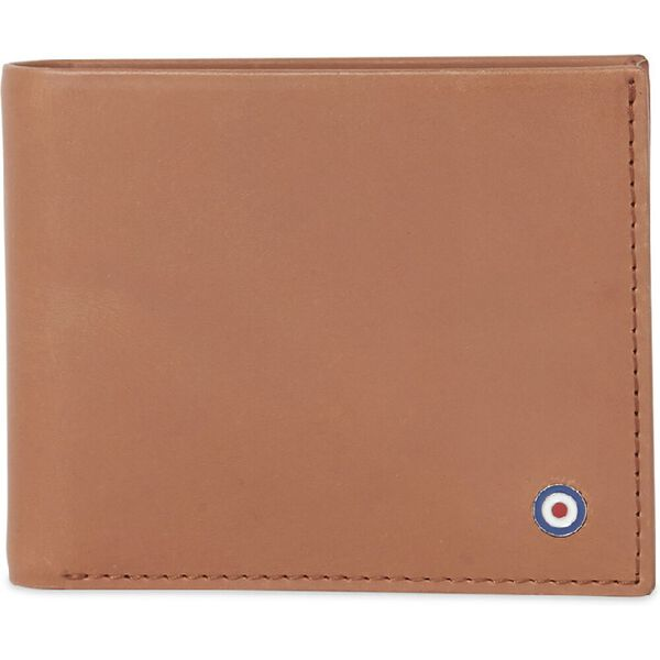 LEATHER BIFOLD WALLET WITH COIN POCKET, TAN, hi-res