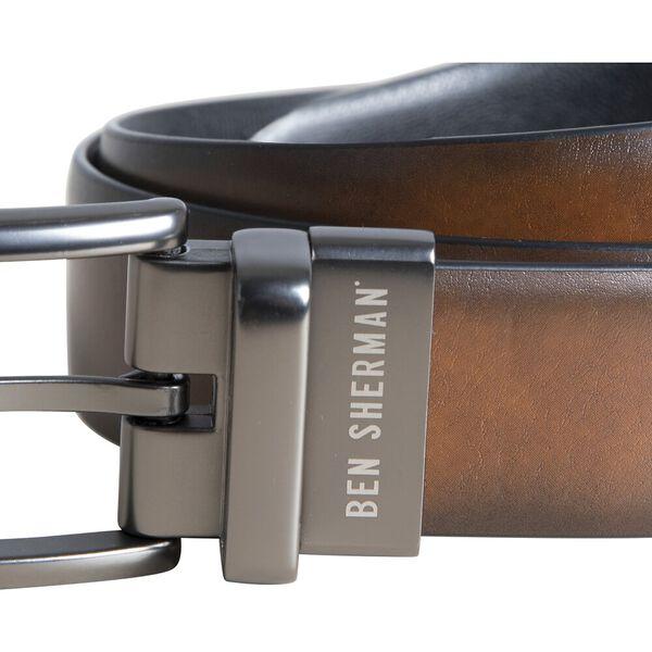 Rev Dress Belt W Pin Buckle, TAN/BLACK, hi-res