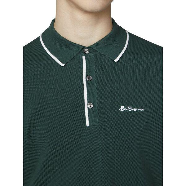 Resort Neck Knit Polo, TREKKING GREEN, hi-res