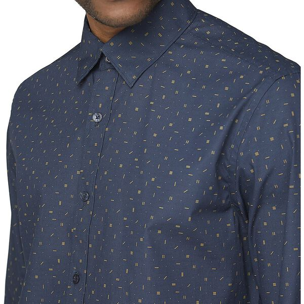 Ls Scattered Poplin Print Midnight, MIDNIGHT, hi-res