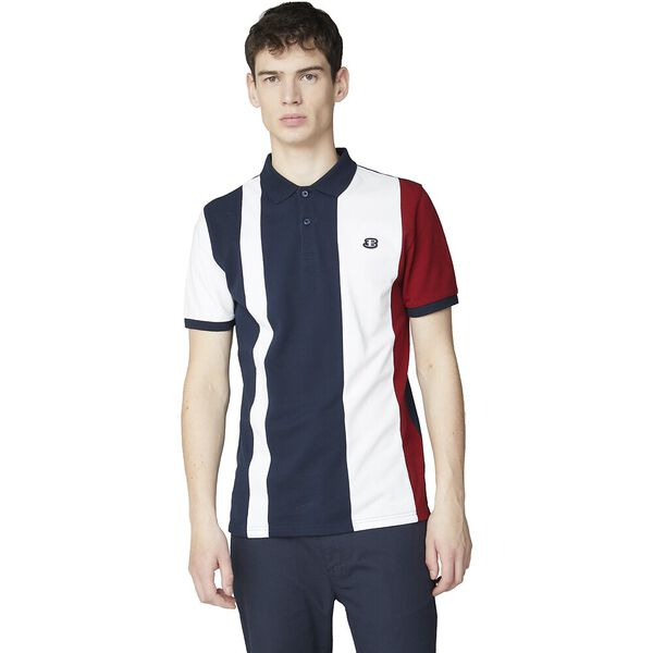 Blocked Stripe Polo